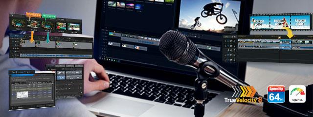 NEW さらに効率的な動画編集作業